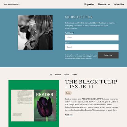Newsletter – The Happy Reader