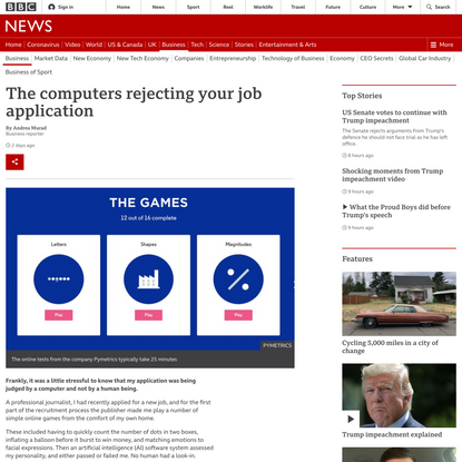 The computers rejecting your job application
