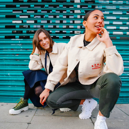 """SAGE on Instagram: """"☔ #tb to this jacket we made in collaboration with @converse + @refinery29uk last year. 232 RYE LANE LOC..."""
