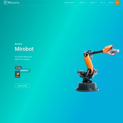 Home WLKATA | 6-Axis Mini Robot Arm for Education