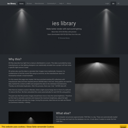 ies library: Home