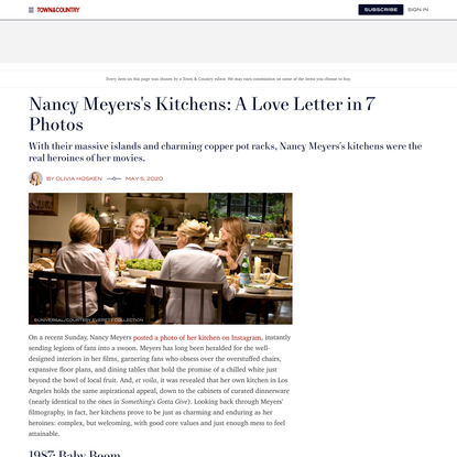 Nancy Meyers's Movies Set the Gold Standard for Kitchen Goals