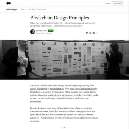 Blockchain Design Principles