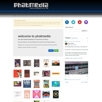 Phatmedia old skool rave flyer community