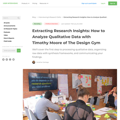 Extracting Research Insights: How to Analyze Qualitative Data with Timothy Moore of The Design Gym