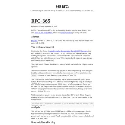 365 RFCs