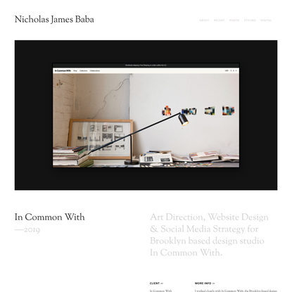 In Common With — Nicholas James Baba