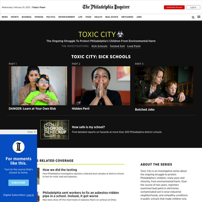 Toxic City: Read the full series by the Inquirer exposing environmental hazards facing Philly children