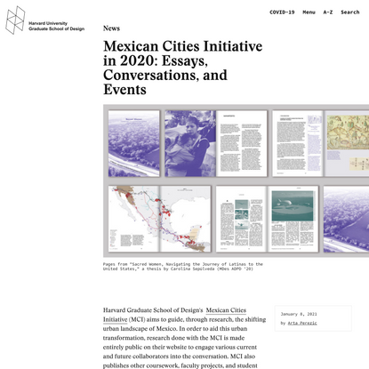 Mexican Cities Initiative in 2020: Essays, Conversations, and Events - Harvard Graduate School of Design