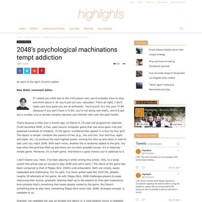 2048's psychological machinations tempt addiction