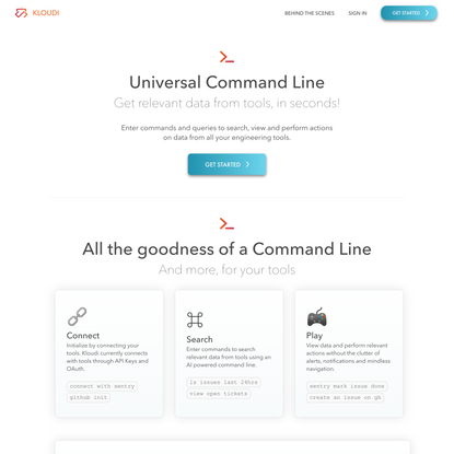 Kloudi - Universal command line for engineering tools