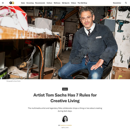 Artist Tom Sachs Has 7 Rules for Creative Living