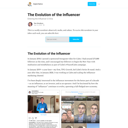 The Evolution of the Influencer