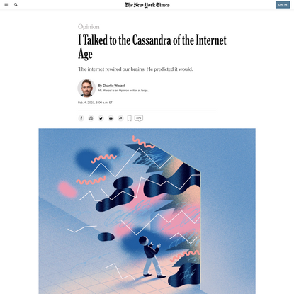 Opinion | I Talked to the Cassandra of the Internet Age
