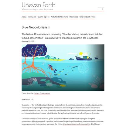 Blue Neocolonialism – Uneven Earth