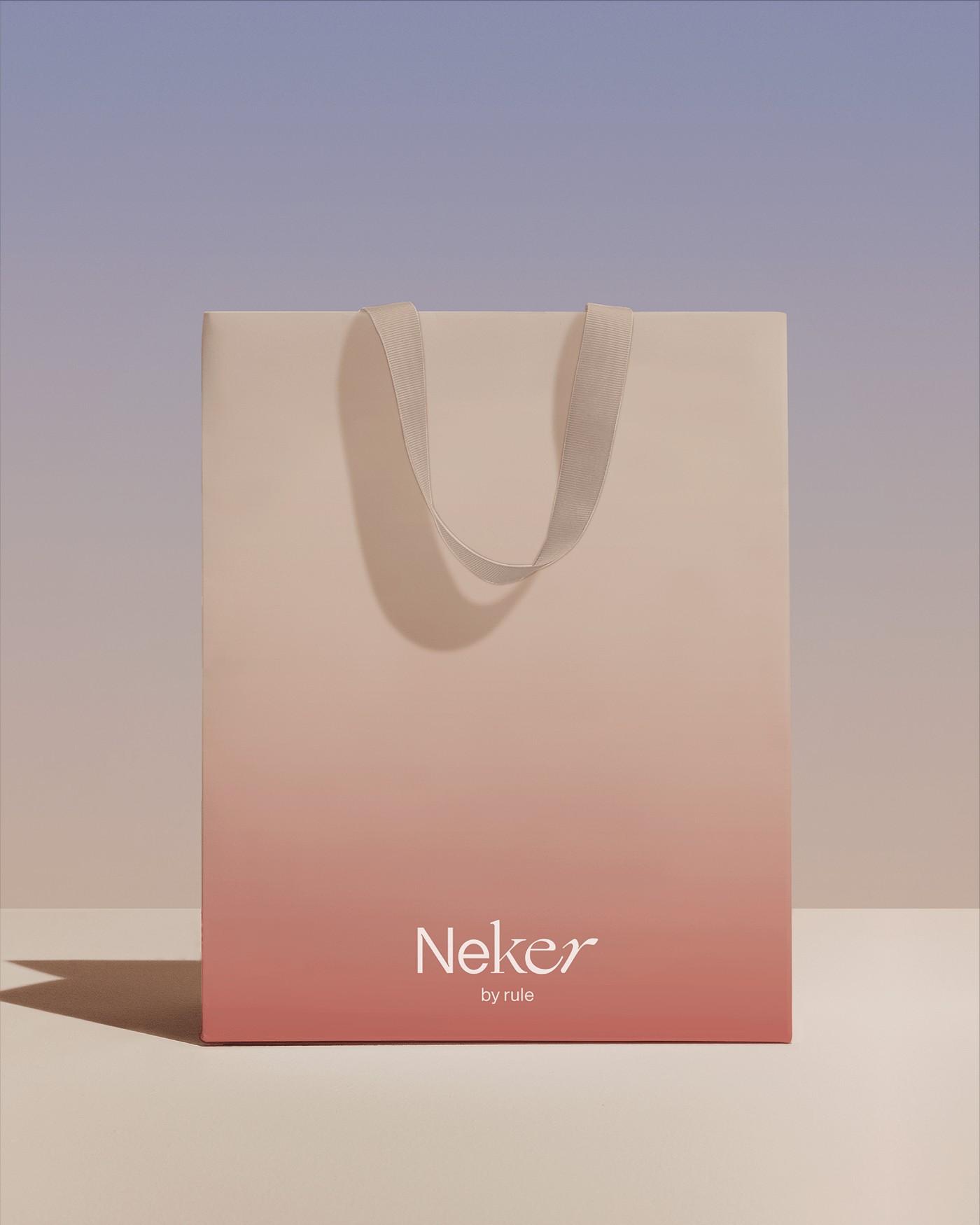 Package   Branding   Neker   Pastel   Elegant   Bag   Gradient   Minimal   Pink   Modern   Beauty   Colour   PlusX