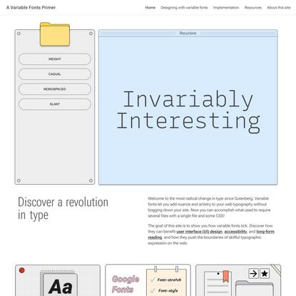 A Variable Fonts Primer