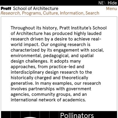 Pratt Institute | School of Architecture