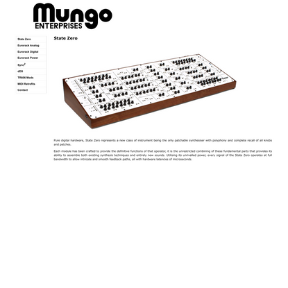 Mungo Enterprises - State Zero, Overview