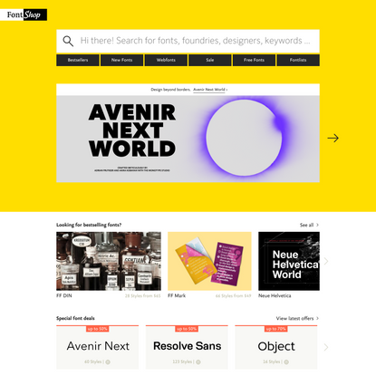The world's best fonts for print, screen and web