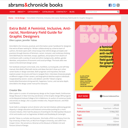 Extra Bold: A Feminist, Inclusive, Anti-racist, Nonbinary Field Guide for Graphic Designers | Abrams & Chronicle Books