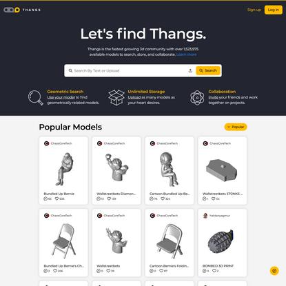3D model community. Search & download free 3D models. Share 3D models