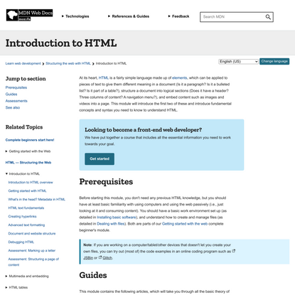 Introduction to HTML - Learn web development   MDN