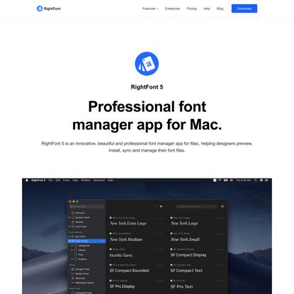 Best Font Manager / Font Organizer for Mac
