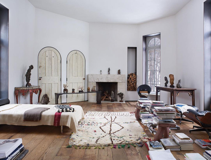 """T: The NYTimes Style Magazine on Instagram: """"#RoomOfTheDay: In the painter Brice Marden's study in Tivoli, N.Y., rocks (or g..."""