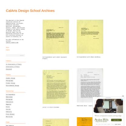 CalArts Design School Archive