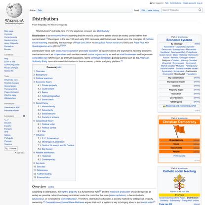 Distributism - Wikipedia
