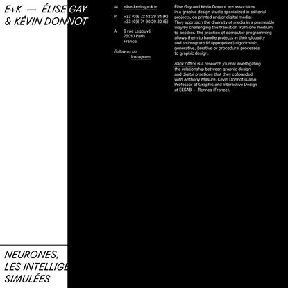 E+K — Élise Gay & Kévin Donnot