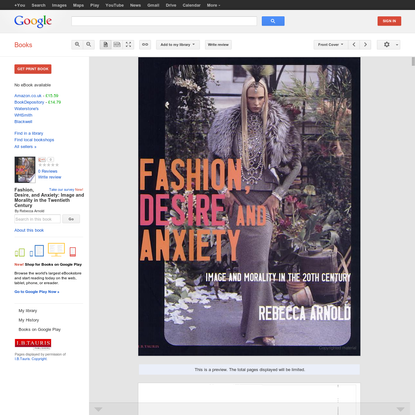 Fashion, Desire, and Anxiety