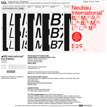 NBL — NB International™ Pro Edition
