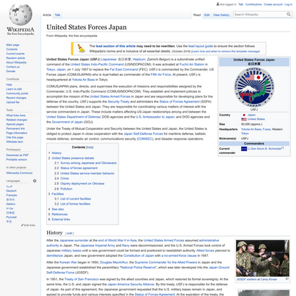 United States Forces Japan - Wikipedia