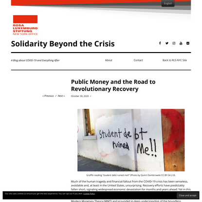 Public Money and the Road to Revolutionary Recovery - Solidarity Beyond the Crisis