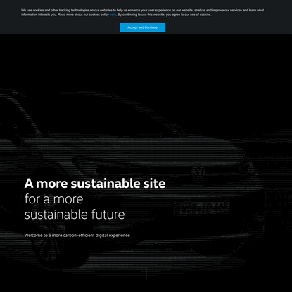 A more sustainable VW.ca experience