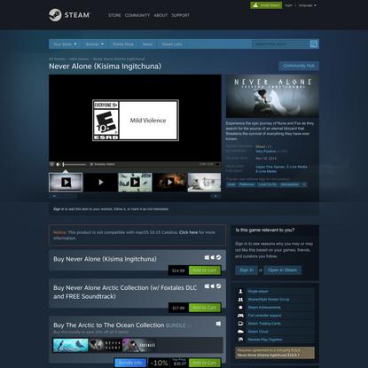 Never Alone (Kisima Ingitchuna) on Steam
