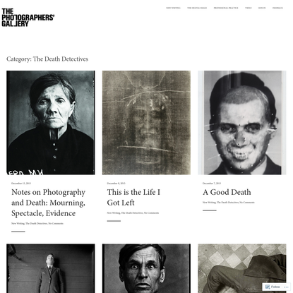 Posts about The Death Detectives on BLOG - The Photographers' Gallery