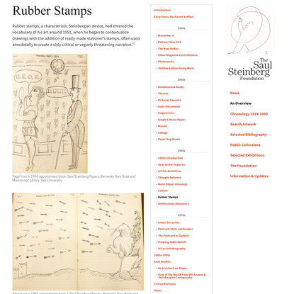Rubber Stamps - Saul Steinberg Foundation