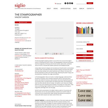The Stampographer - Siglio Press
