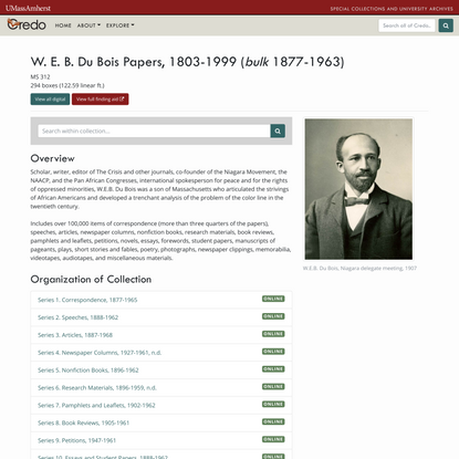 W. E. B. Du Bois Papers Overview