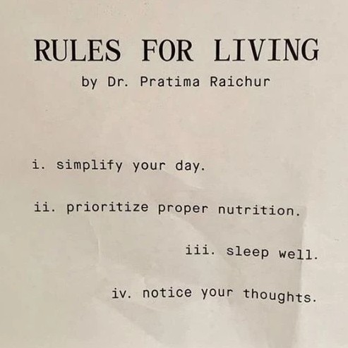 rules for living