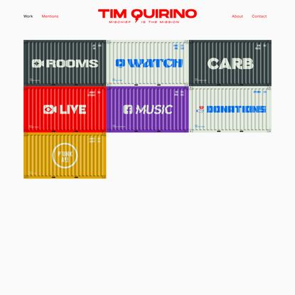 Tim Quirino - Designer & Chef