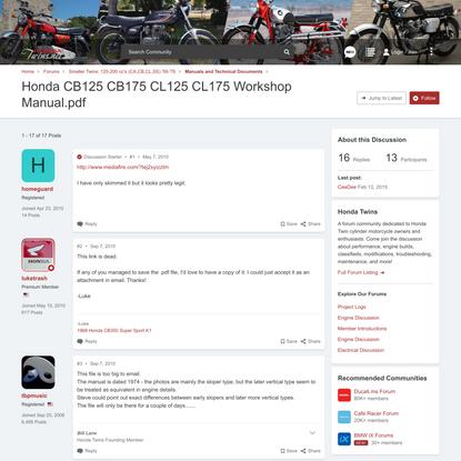 Honda CB125 CB175 CL125 CL175 Workshop Manual.pdf