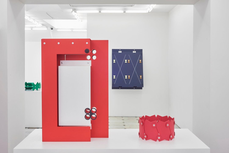 "View of ""Daisy Chain,"" Matt Paweski's 2020 exhibition at Herald St., London"