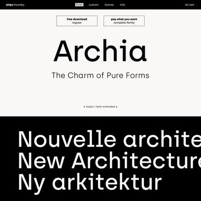 archia | atipo foundry
