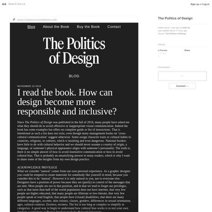 The Politics of Design — Are.na