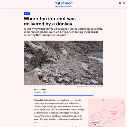 Where the internet was delivered by a donkey