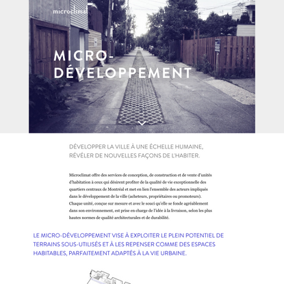 Services | Microclimat Architecture
